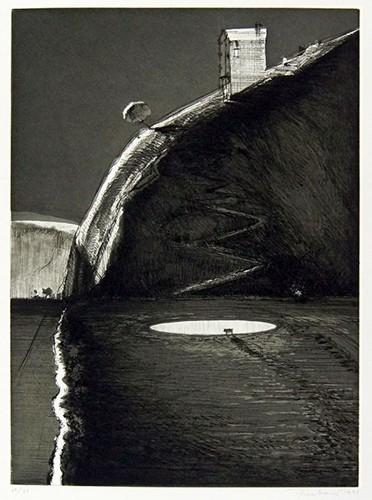 Wayne Thiebaud-Night Farm-1993