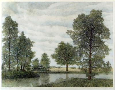 William T. Livesay-Reflections in the Pond - State II-1986