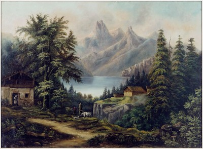 Artist Unknown - Alps In The Distance-