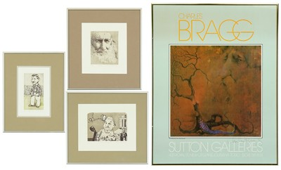 Charles Bragg-Three Etchings; Sutton Galleries exhibition poster-