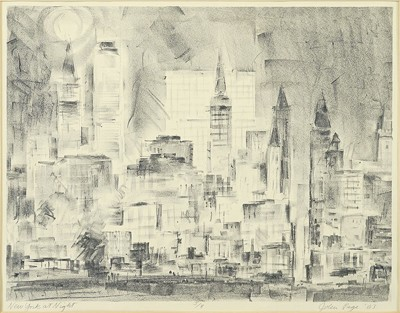 John Henry Page Jr-New York at Night-1963