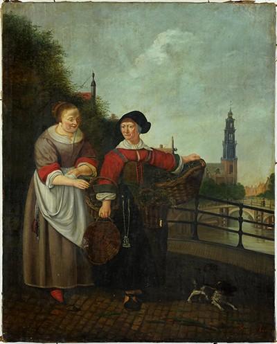 H. Van Der Meulen-Meeting on the Bridge-1836