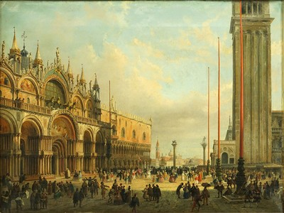 Luigi Querena-Attributed to Luigi Querena - Piazza San Marco-