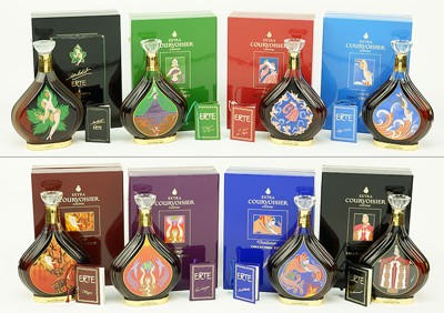 Romain De Tirtoff Erte - Collection of Limited Edition Courvoisier Bottles-
