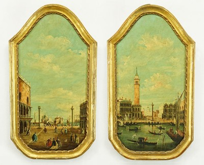 A Grossi - Two Scenes of Piazza San Marco-