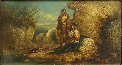 Adolphe Monticelli-Attributed to Adolphe Monticelli - The Soldiers-