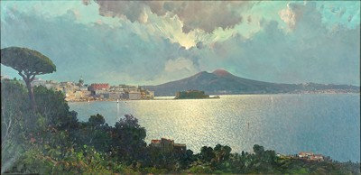 Ensel Salvi-View Of Naples-