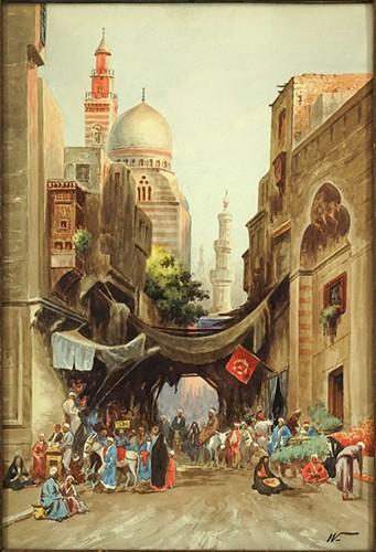 Edwin Lord Weeks-Cairo Bazaar Scene-