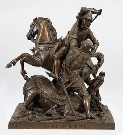 Jean Francois Theodore Gechter-After Jean Francois Theodore Gechter - Charles Martel, Combattant Abderame roi des Sarrasins-1893