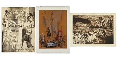 Warrington Colescott-'Madison Art Center' and 'Dillinger'-1972