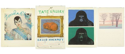 Robert Amft-Gorilla; Twilight II; Poster by Sandra Rose; David Hockney poster-1979