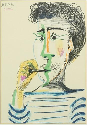 Pablo Picasso-After Pablo Picasso - Le Fumeur-1964