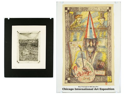 William T. Wiley-Beginning Passes; Chicago Art Expo poster, after Wiley-1976