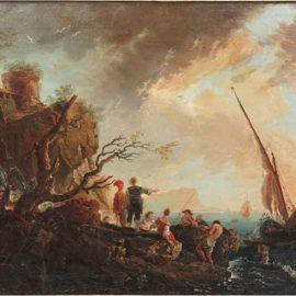 Claude Joseph Vernet-Attributed to Claude Joseph Vernet - The Rocky Shoreline