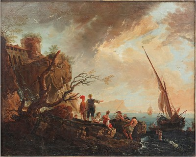 Claude Joseph Vernet-Attributed to Claude Joseph Vernet - The Rocky Shoreline-