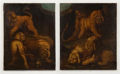Artist Unknown - The Lion's Den - Diptych-
