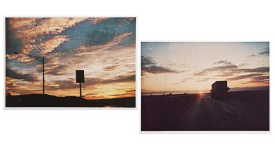 Larry Stark-Two Photographic Inkjet Prints: 'On the Way to Bud's House in the Winter of '74'; 'The Best of Stark and Oil Well'-1974