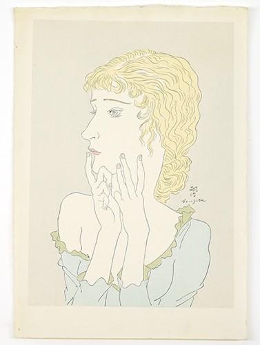 Tsuguharu Foujita-Blonde Woman-1935