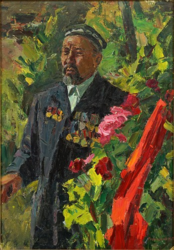 Igor Pavlovich Rubinsky-Portrait Of A Decorated Military Man-
