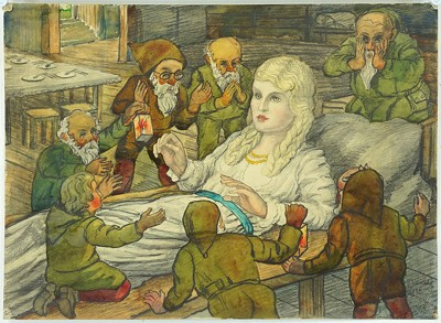 Artist Unknown - Snow White And The Seven Dwarves-1932