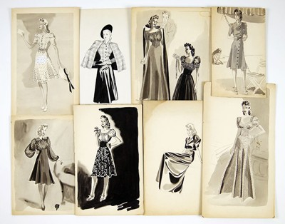 Florence Pollard-Collection of 1940's Fashion Designs-1948