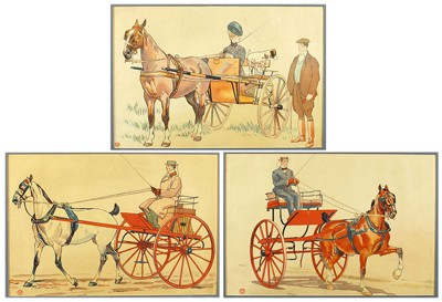 Artist Unknown - Three Chromolithographs-