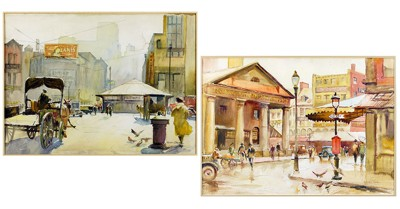Nelson Chase-Two Boston Scenes-
