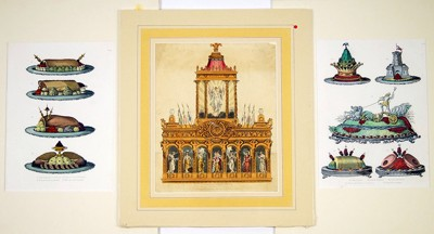 A Collection of 19th Century French Furniture and Interior Prints-
