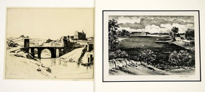 A Collection of 20th Century Prints (The Lake' by Adolf Dehn, South 9th, etc.)-