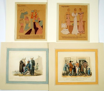 A Collection of 19th and 20th Century French Costume Prints-1931