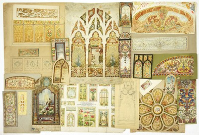 A Collection of Stained Glass Designs-1890