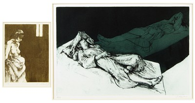 Sigmund Abeles-Two Etchings: 'Reclining Figure'; 'Draped Figure'-