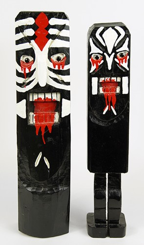 Jim Lewis-Two Totem Figures-1990