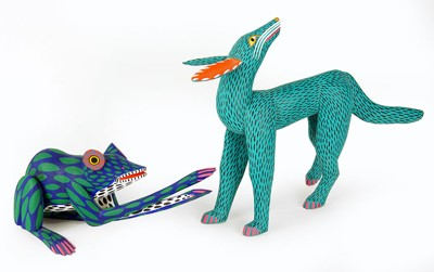 Manuel Jimenez Ramirez-Two Mexican Folk Art Figures-
