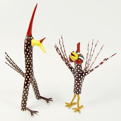 Calvin Cooper-Two Folk Art Bird Figures-1992