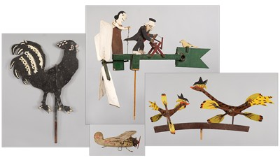 A Collection of Outdoor Folk Art-