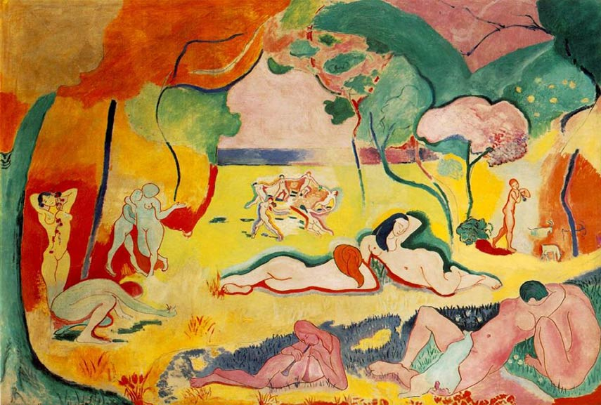 Henri Matisse used color contrast as one of the examples of contrast in art