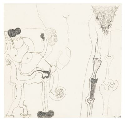 Alberto Burri-Drawing Of Bones-1973