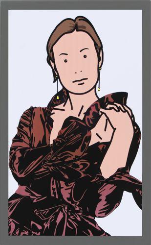 Julian Opie-Anya With Evening Dress-2005