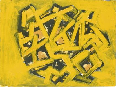 Phyllida Barlow-Untitled: Yellow-2015