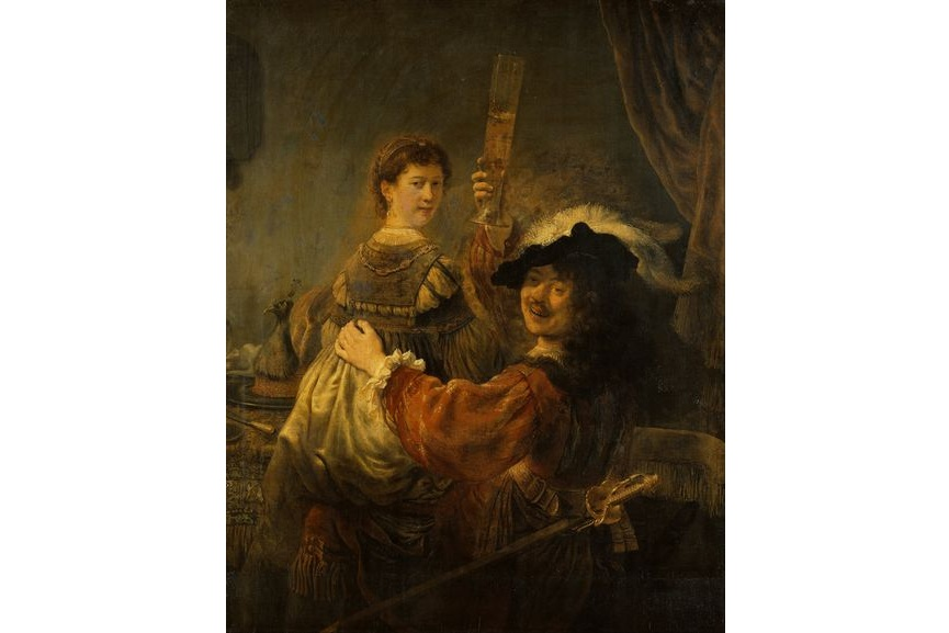 By putting himself in the depicted scenes of his paintings, Rembrandt created some of the most famous self portraits