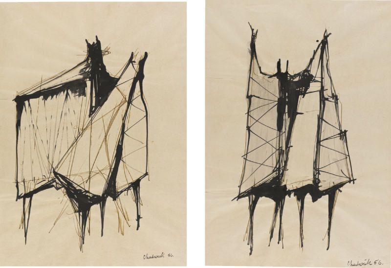 Lynn Chadwick-Drawings For Sculpture-1956