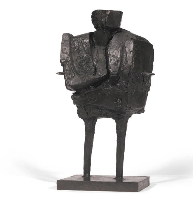 Bernard Meadows-Maquette For Large Standing Armed Figure-1962