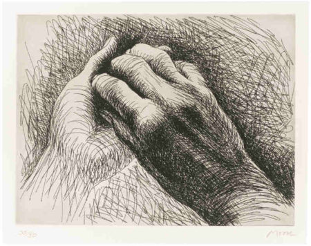 Henry Moore-The Artist's Hand (C. 553, 554, 556 And 557)-1980