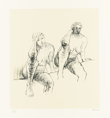 Henry Moore-Nudes (C. 396-406)-1974