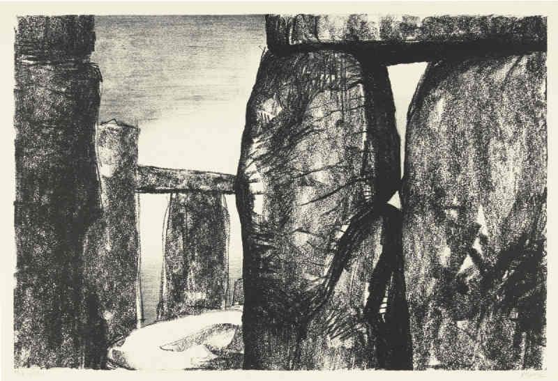 Henry Moore-Stonehenge IV (C. 211)-1973
