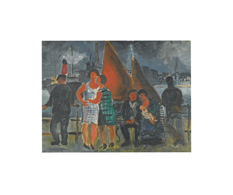 Christopher Wood-On The Quay-1926