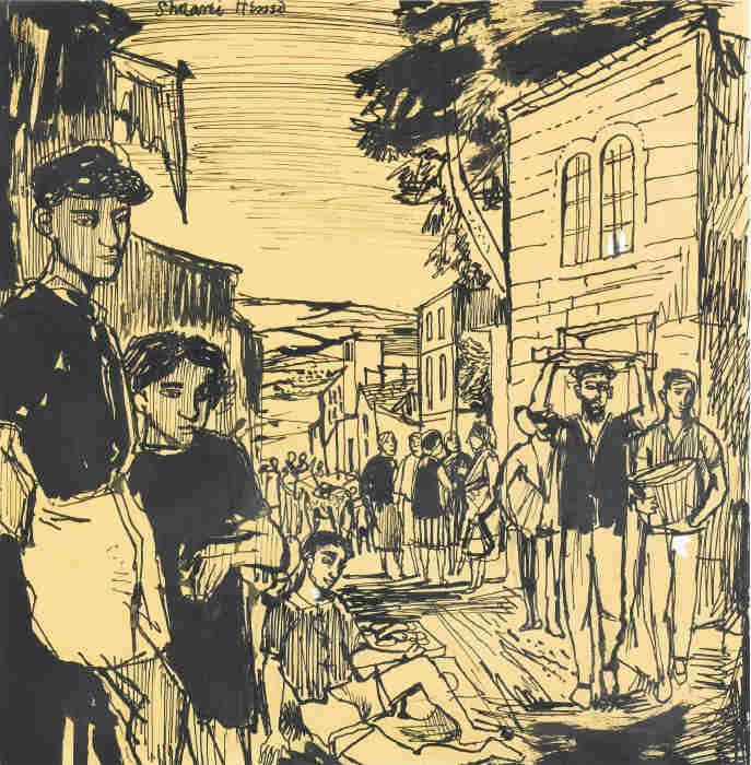 John Minton-Shaarei Hessed, Jerusalem-1950