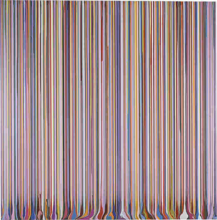 Ian Davenport-Puddle Painting: Pale Lilac (After Carpaccio)-2010