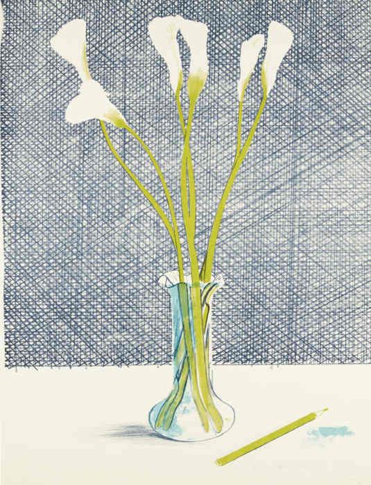David Hockney-Lillies (S. A. C. 118)-1971